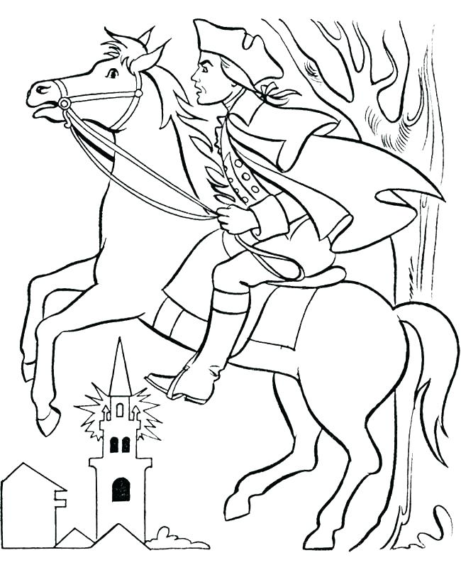650x796 Coloring Pages Coloring Page Revere With Horse Coloring Coloring