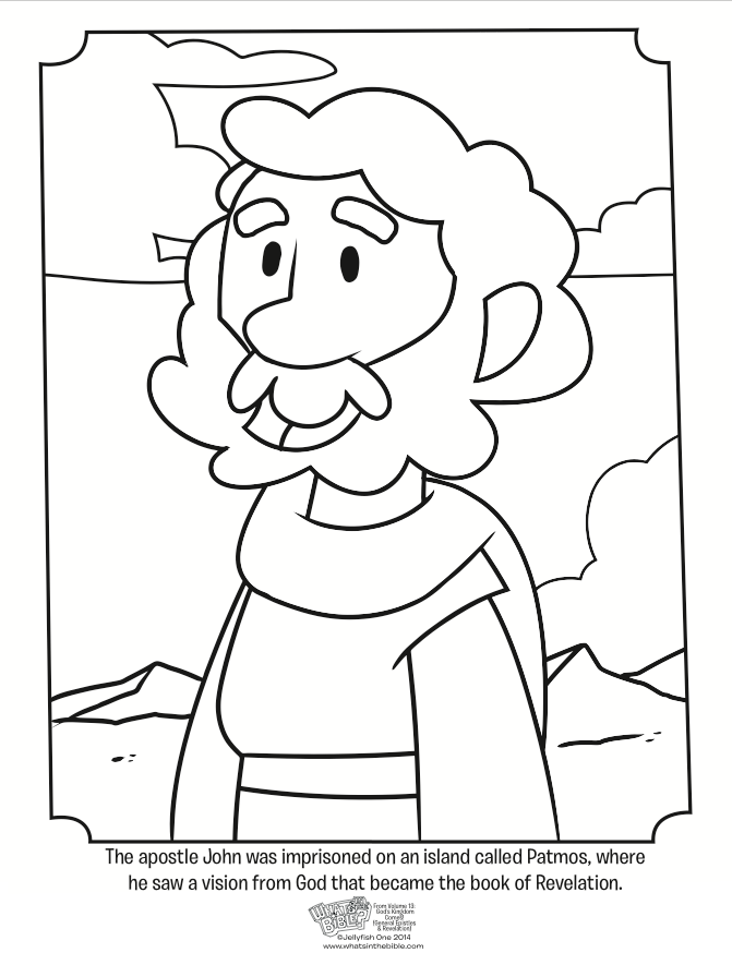 671x874 John's Revelation Coloring Page