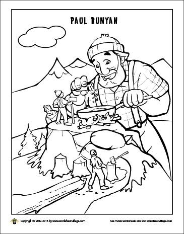 365x465 Paul Bunyan Coloring Page Best Of Best Paul Bunyan Images