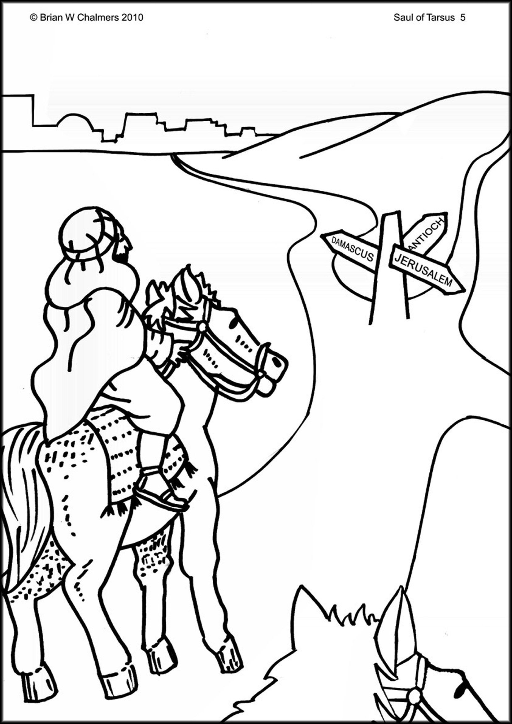 1654x2339 Saul Becomes Paul Coloring Pages Free Coloring For Kids