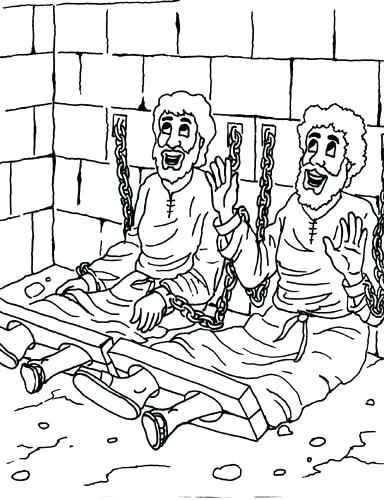 384x500 Apostle Paul Coloring Pages And In Prison Coloring Page Pictures