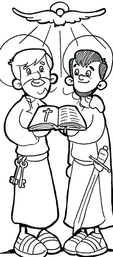 393x891 Apostle Paul Coloring Pages Apostle Coloring Pages Apostle