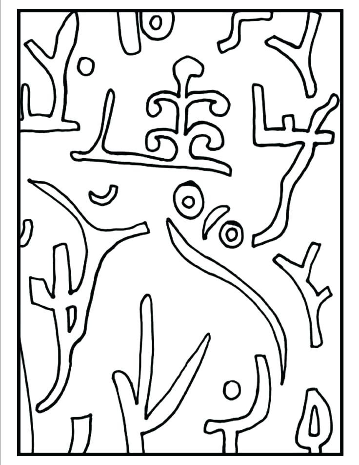 736x952 Elegant Paul Klee Coloring Pages