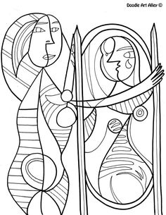 236x305 Pablo Picasso Coloring Pages Fun Time