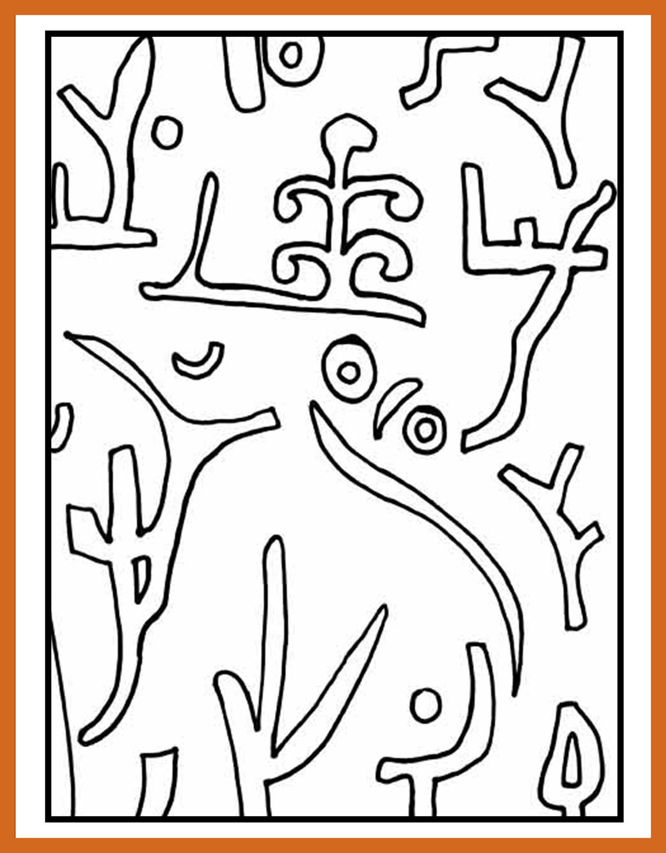 1335x1710 Amazing This Is A Picture Of The Coloring Page For Paul Klee U