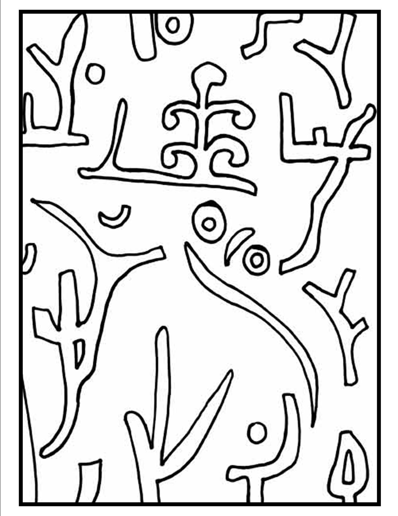 1275x1650 This Is A Picture Of The Coloring Page For Paul Klee's Park