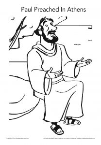 208x300 Paul Preached In Athens Coloring Page On Sunday School Zone
