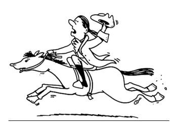 350x254 Cartoon Paul Revere Coloring Page Kids Coloring Pages