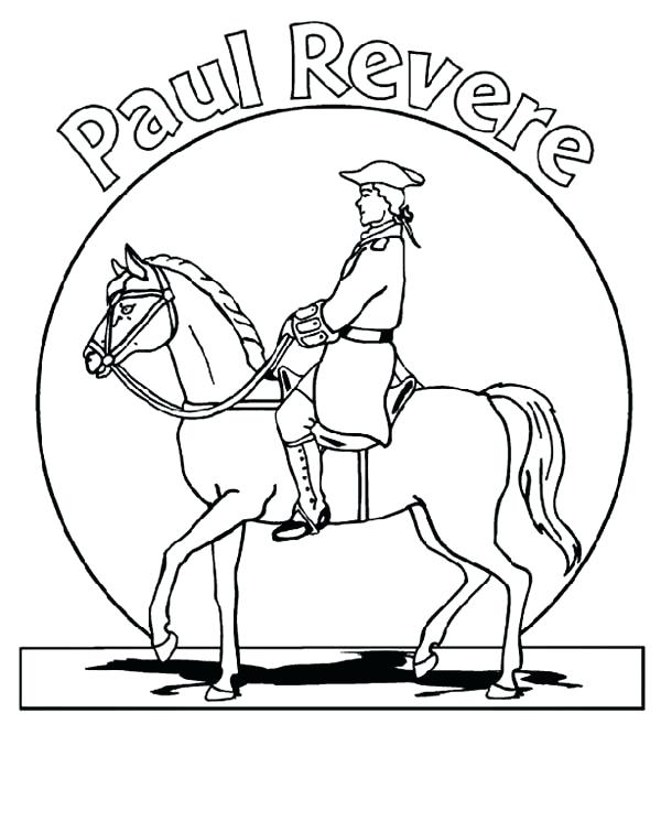 600x745 Paul Revere Coloring Page Revere The Patriot Day Coloring Pages