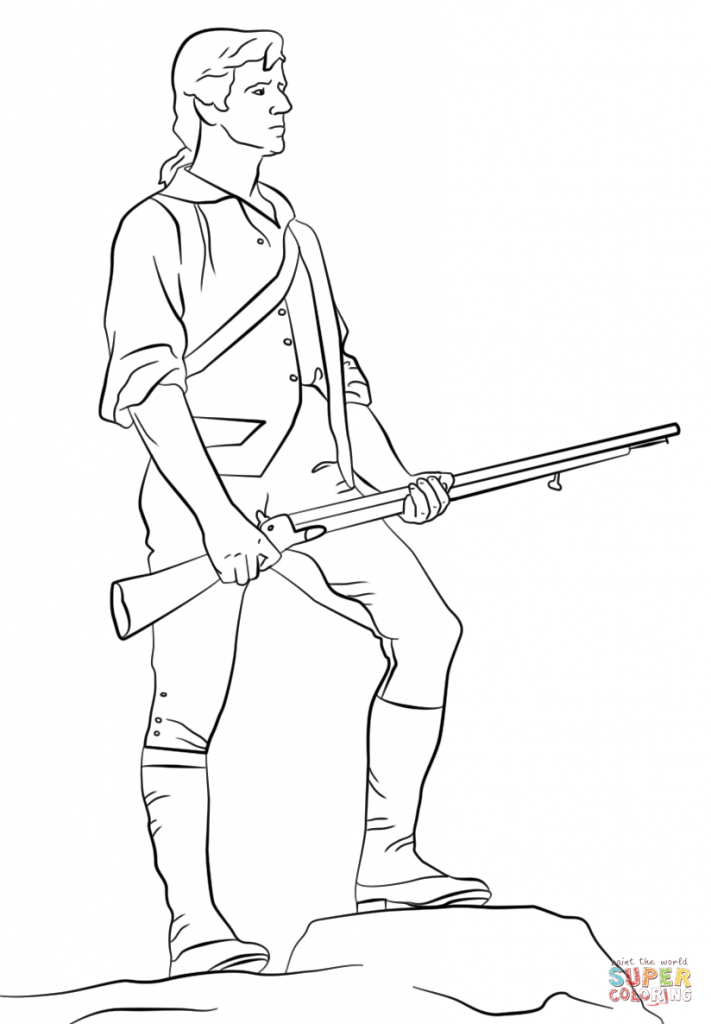 711x1024 Paul Revere Coloring Page