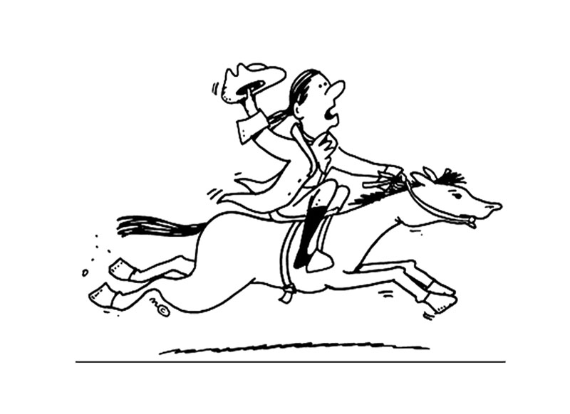 800x582 Cartoon Paul Revere Coloring Page For Kids Kids Coloring Pages