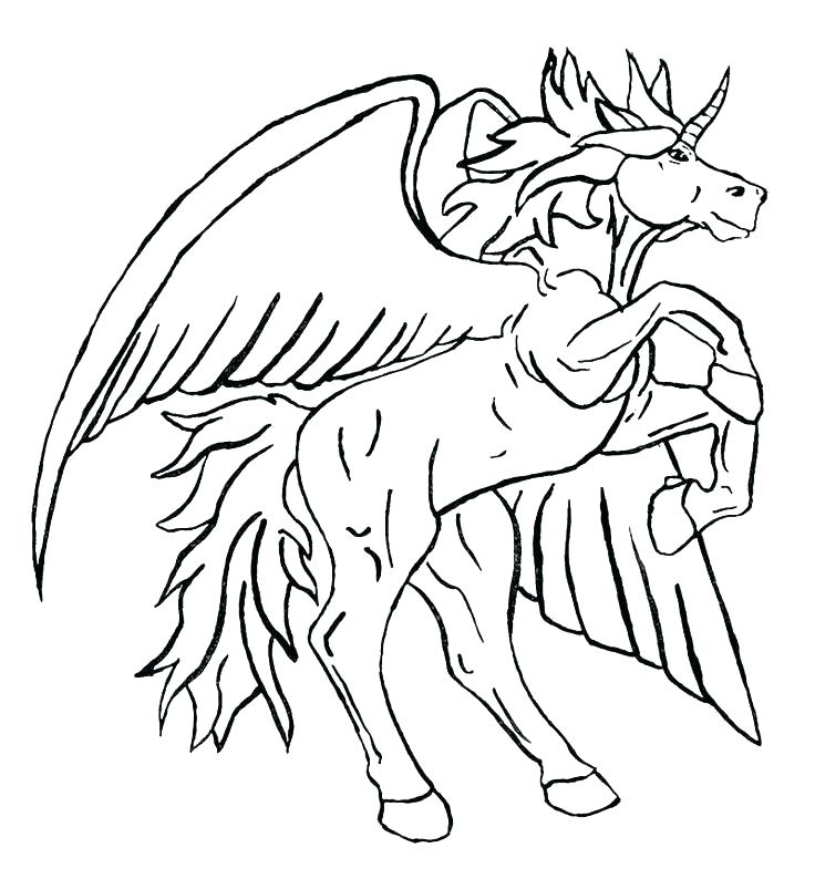 736x794 Unicorn Coloring Pictures X Unicorn Coloring Pages For Adults
