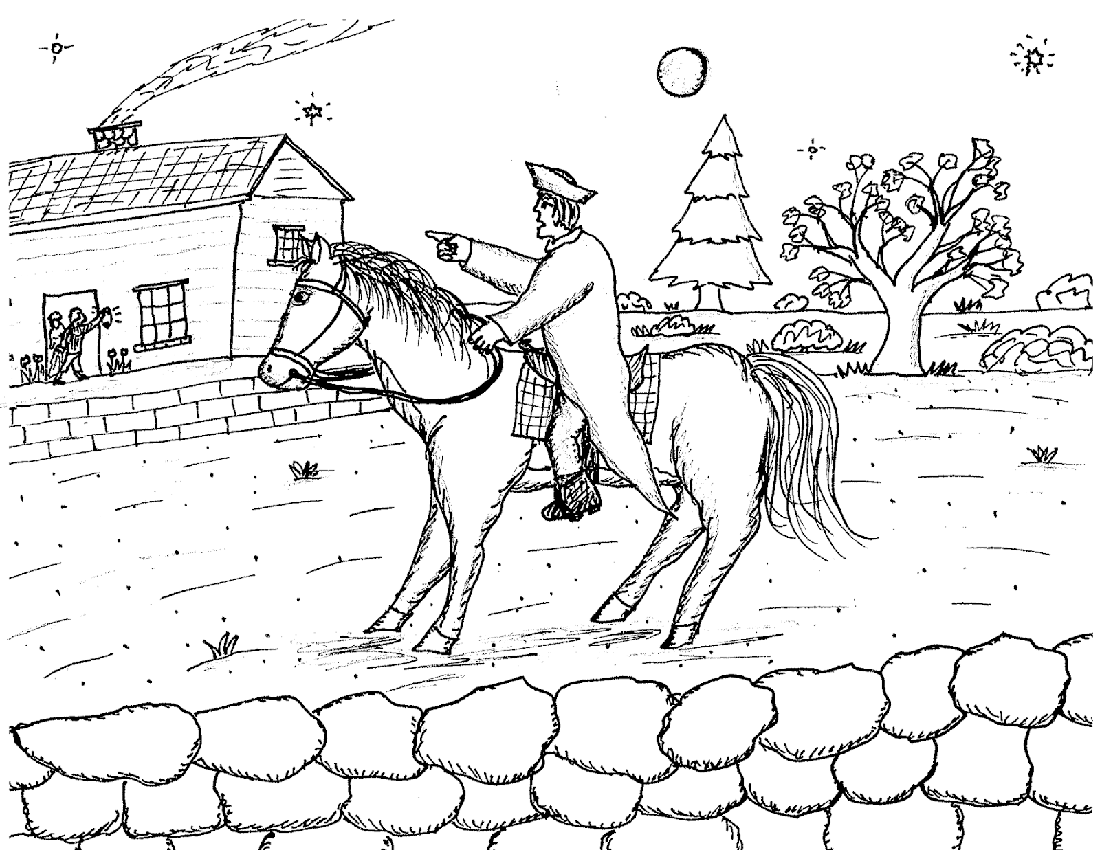 1600x1237 Robins Great Coloring Pages Ride Of Paul Revere Paul Revere