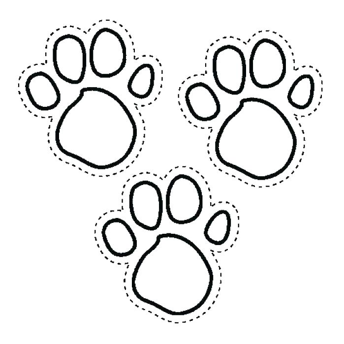Paw Coloring Page