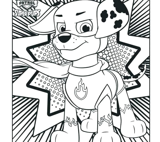 678x600 Marshall Paw Patrol Coloring Pages Paw Patrol Coloring Page Paw