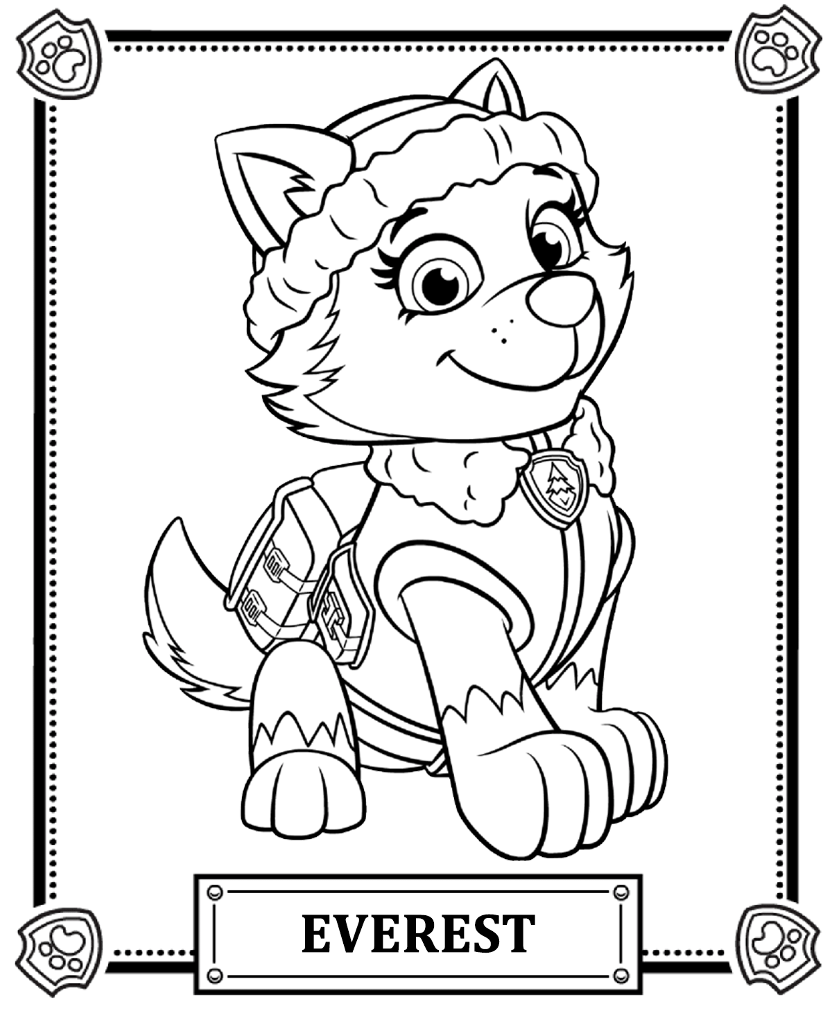1200x1461 Paw Patrol Coloring Pages