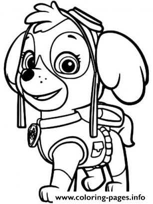 307x409 Paw Patrol Skye Ready Coloring Pages Printable