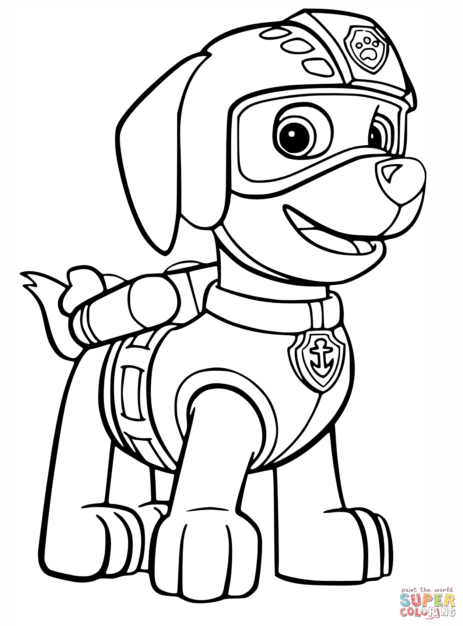 1521x2056 Paw Patrol Zuma Coloring Pages Coloring Pages Craft