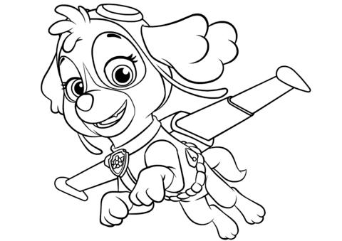 480x339 Pleasurable Paw Patrol Coloring Pages Printable Air Patroller Pups