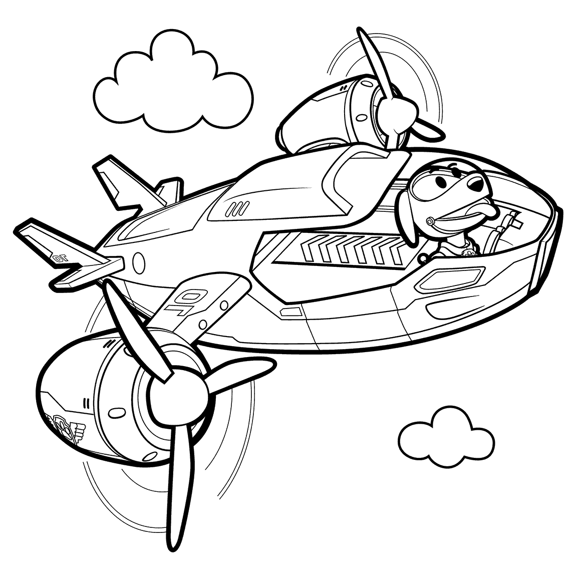 1160x1160 Robo Dog R Patroller Coloring Pages