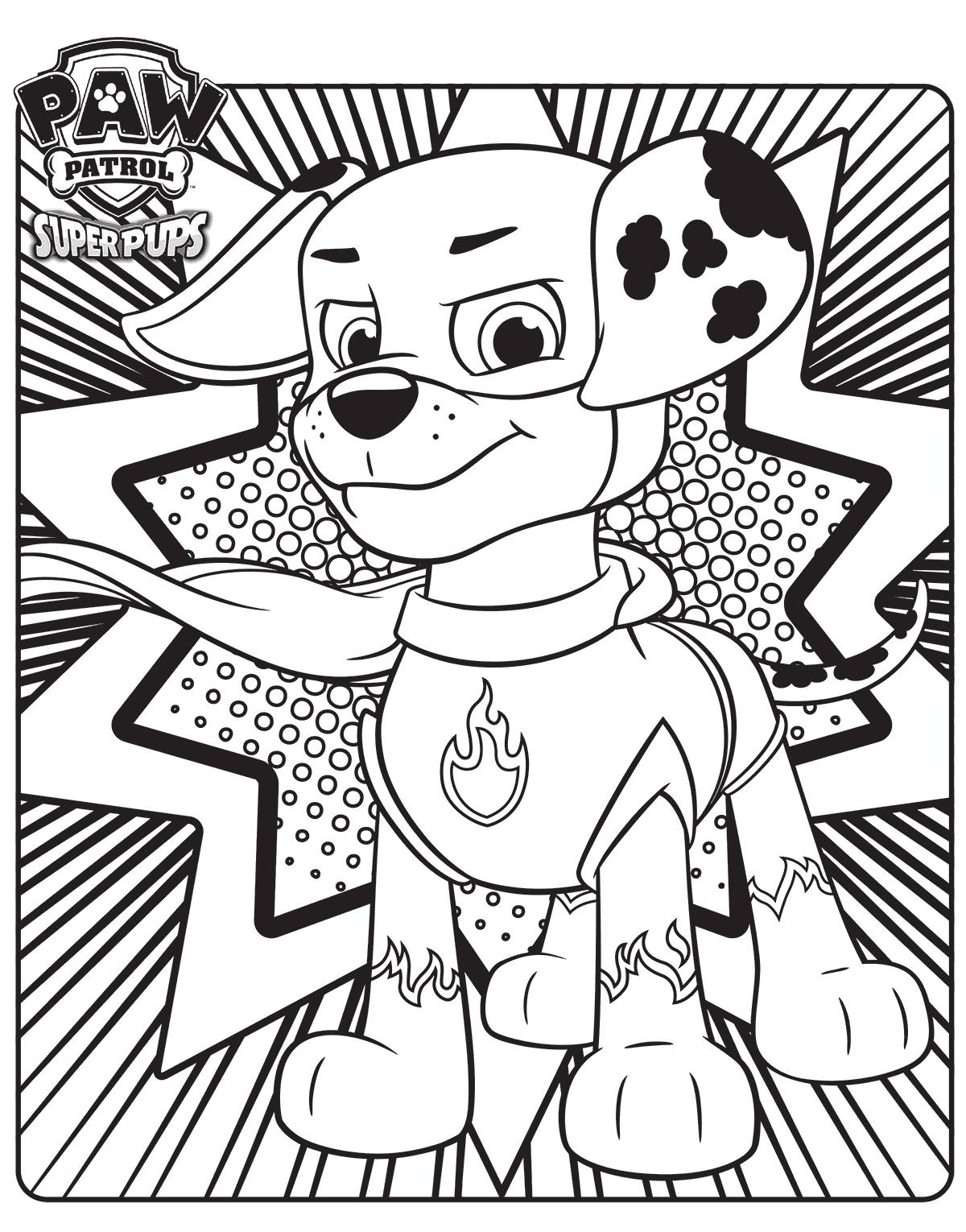 Paw Patrol Air Pups Coloring Pages