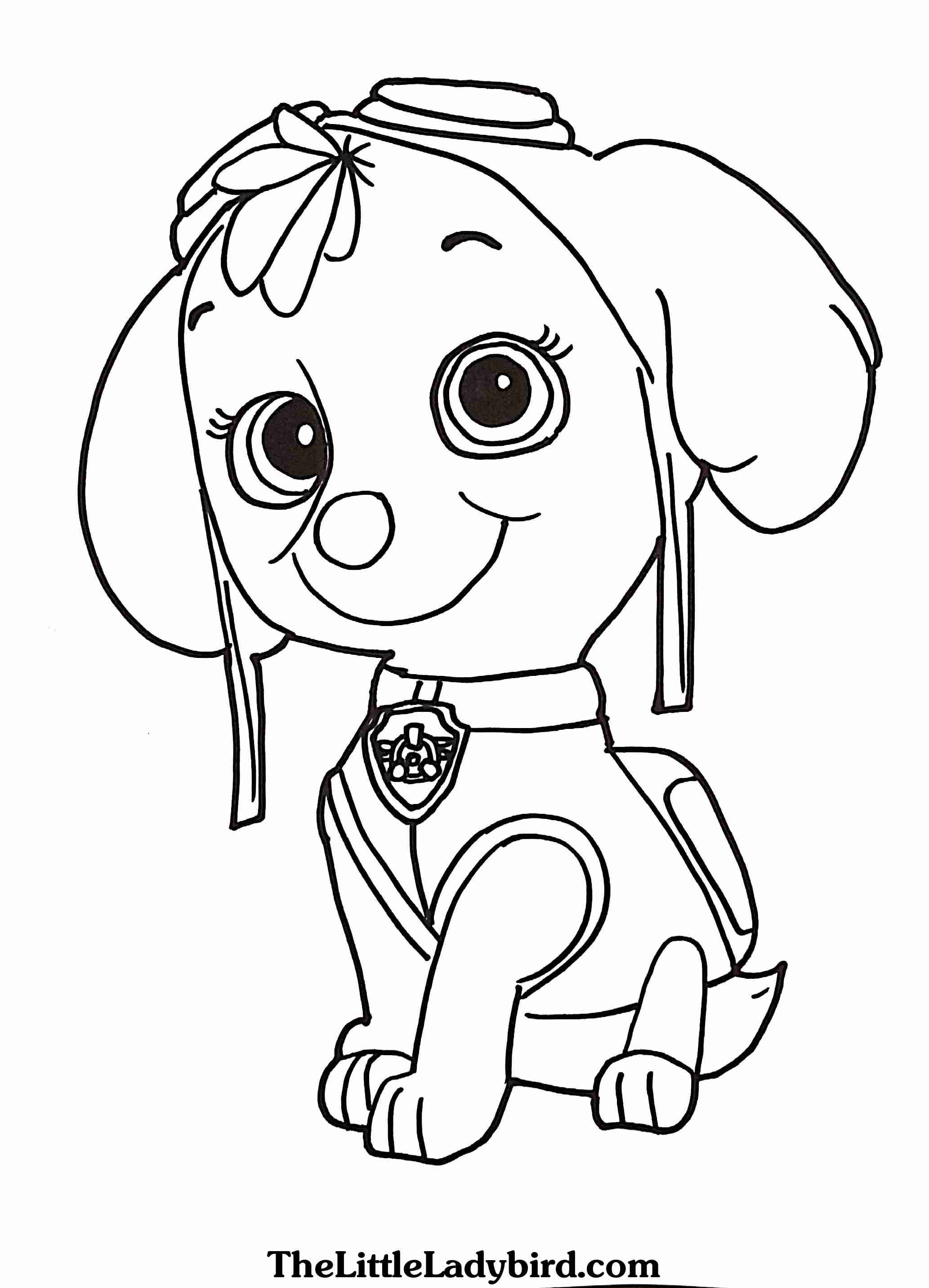 2066x2866 Free Skye From Paw Patrol Coloring Page Com Beautiful Badges Pages