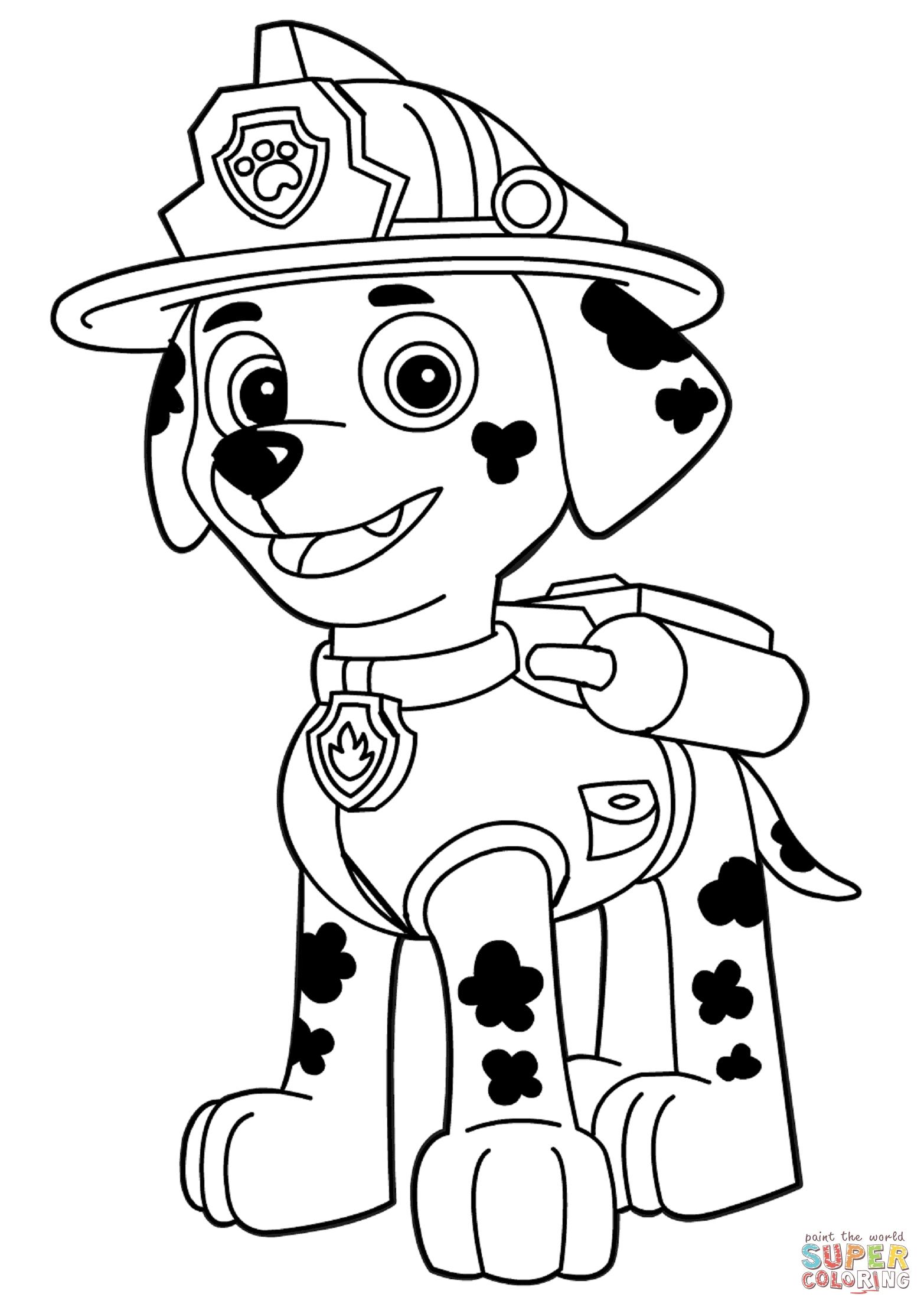 1565x2213 Fresh Paw Patrol Marshall Coloring Page