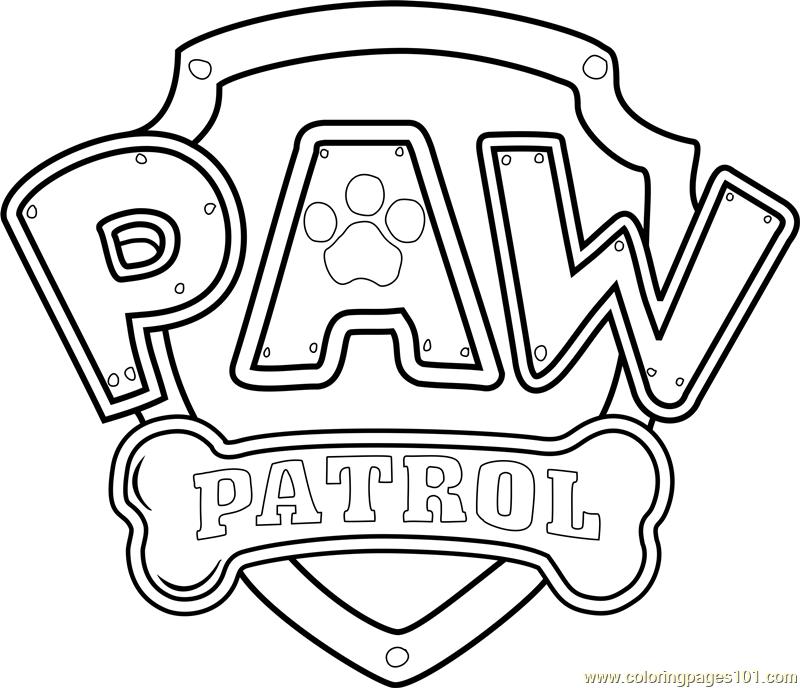 800x688 Paw Patrol Badge Template Pdf Paw Patrol Logo Coloring Page
