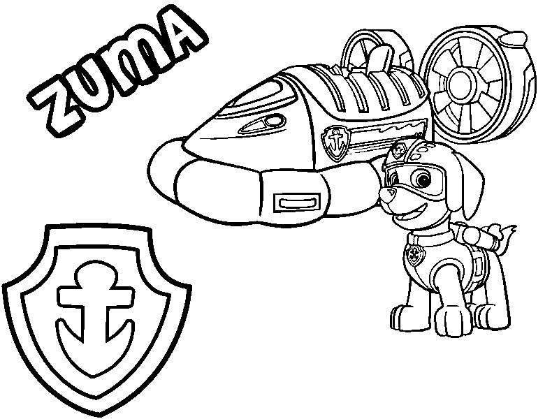 800x600 Paw Patrol Badges Coloring Pages