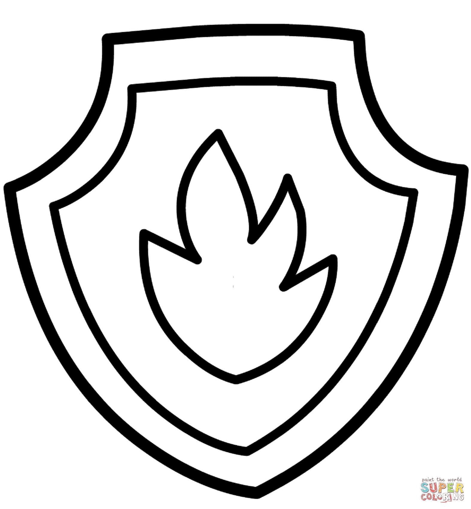 1574x1703 Paw Patrol Badge Black And White Ltbgtpaw Patrolltgt Marshall's Ltb