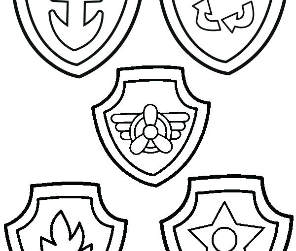photograph relating to Free Printable Paw Patrol Badges named Paw Patrol Badges Coloring Web pages at  No cost