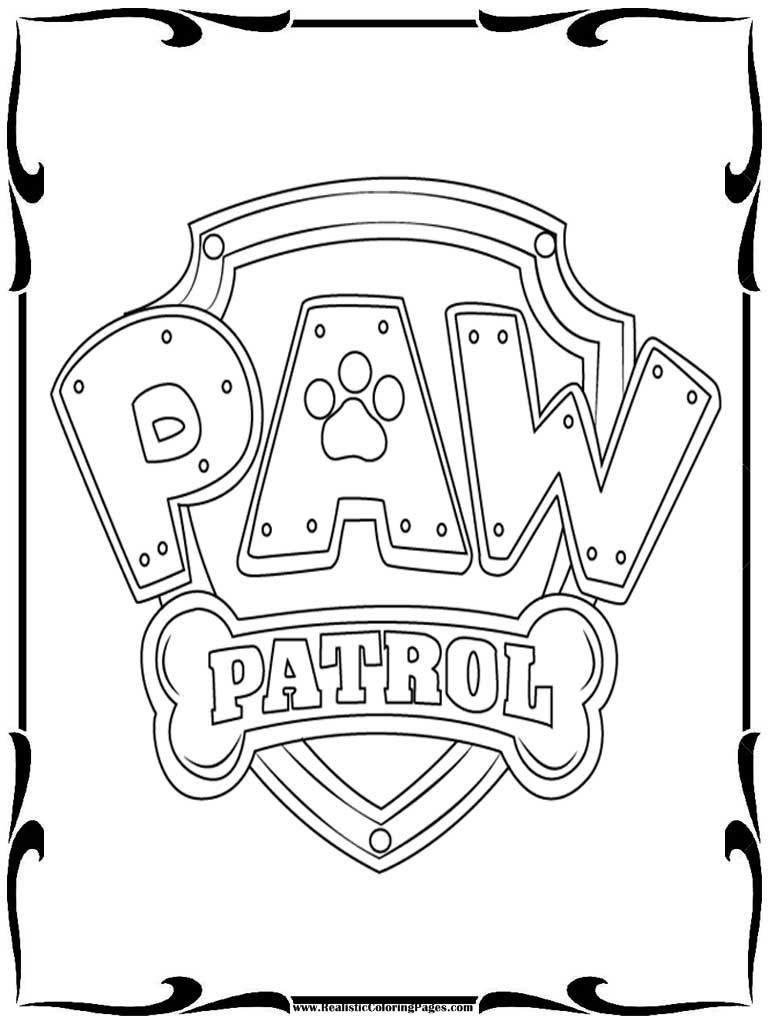 graphic regarding Paw Patrol Badges Printable titled Paw Patrol Badges Coloring Webpages at  Totally free