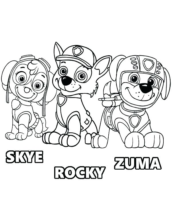 600x740 Paw Patrol Coloring Pictures Also Paw Patrol Coloring Pages Paw