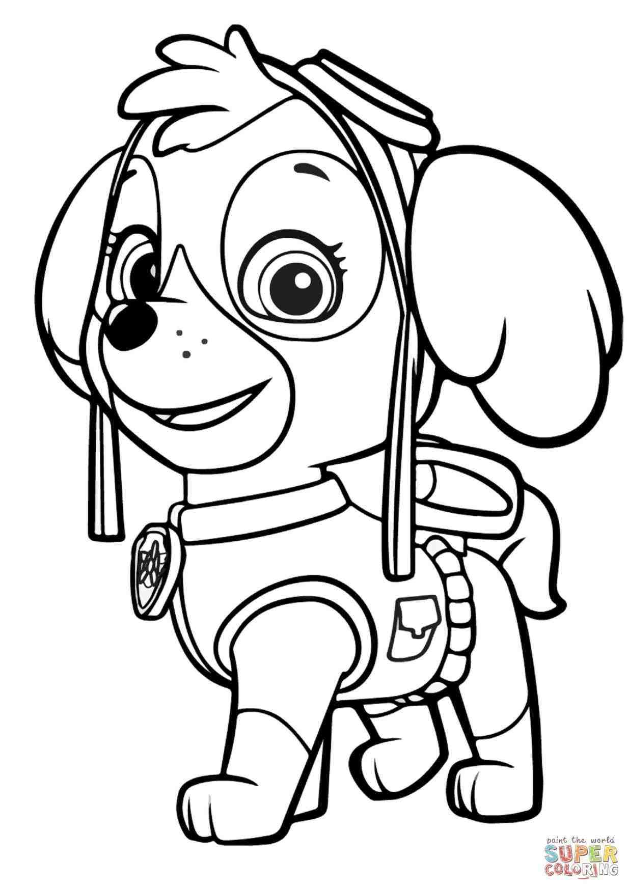 1233x1744 Printable Coloring Pages For Kids Paw Patrol