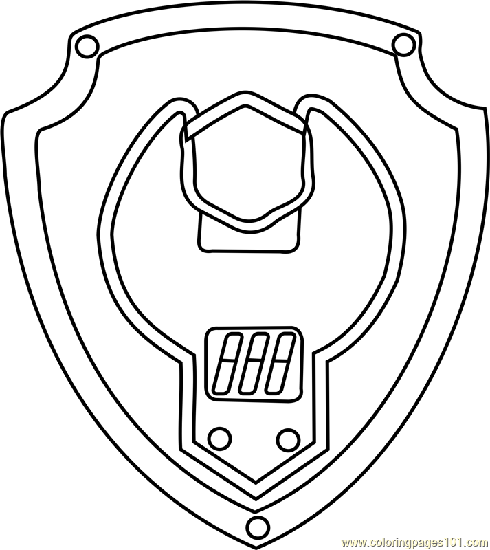 713x800 Rubble Badge Coloring Page