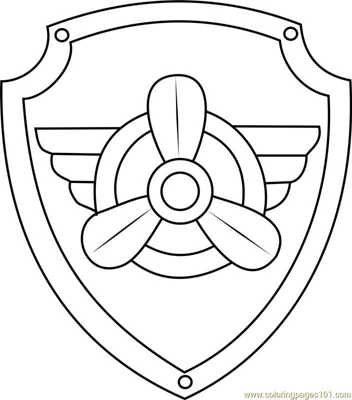 704x800 Skye Badge Coloring Page