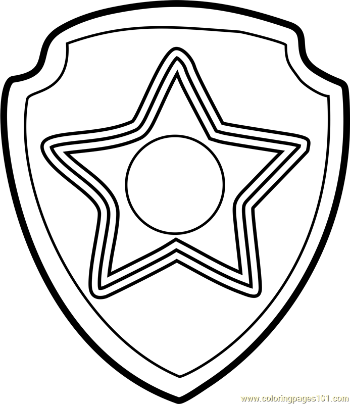 693x800 Chase Badge Coloring Page