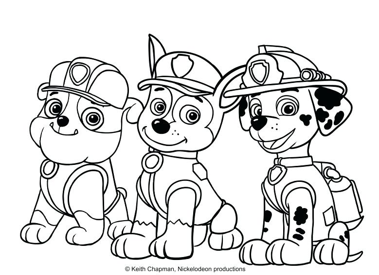 779x567 Chase Paw Patrol Coloring Page