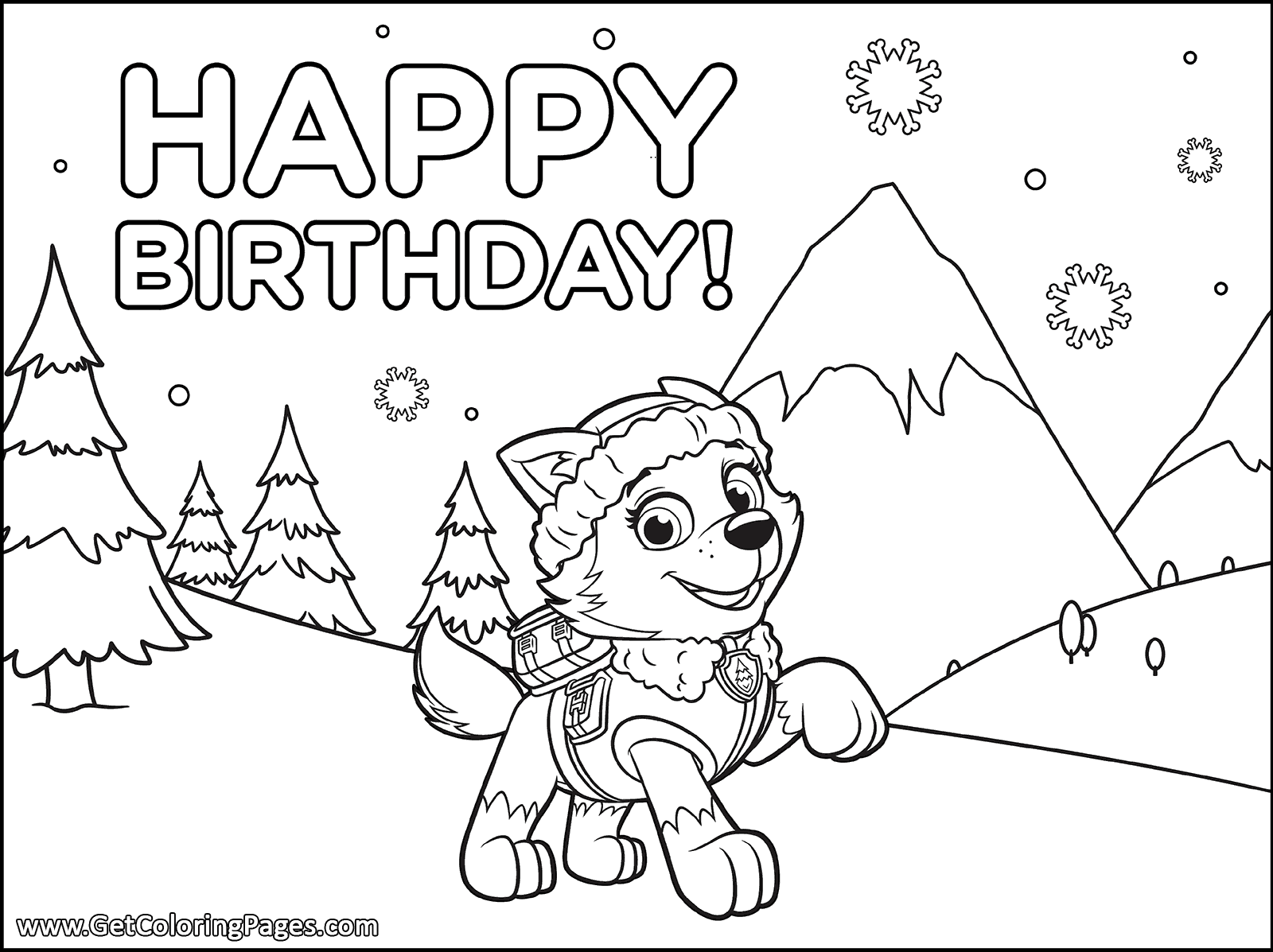 Paw Patrol Birthday Coloring Pages at GetDrawings | Free ...