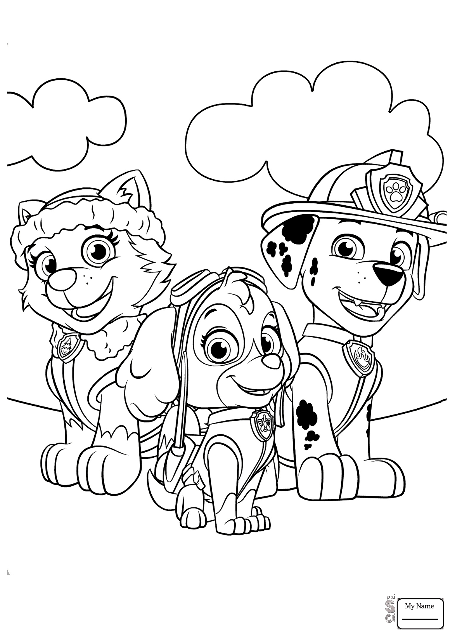 1526x2158 Marshall And Zuma Paw Patrol Cartoons Paw Patrol Coloring Pages