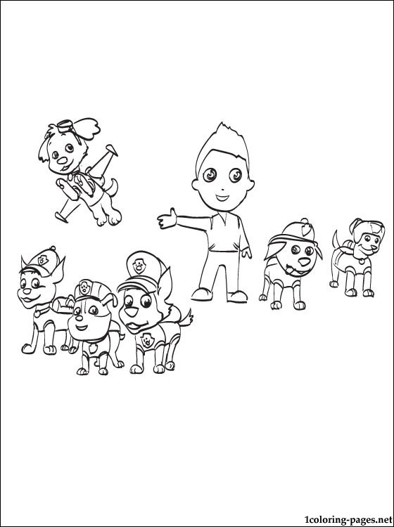 560x750 Paw Patrol Characters Coloring Page Coloring Pages