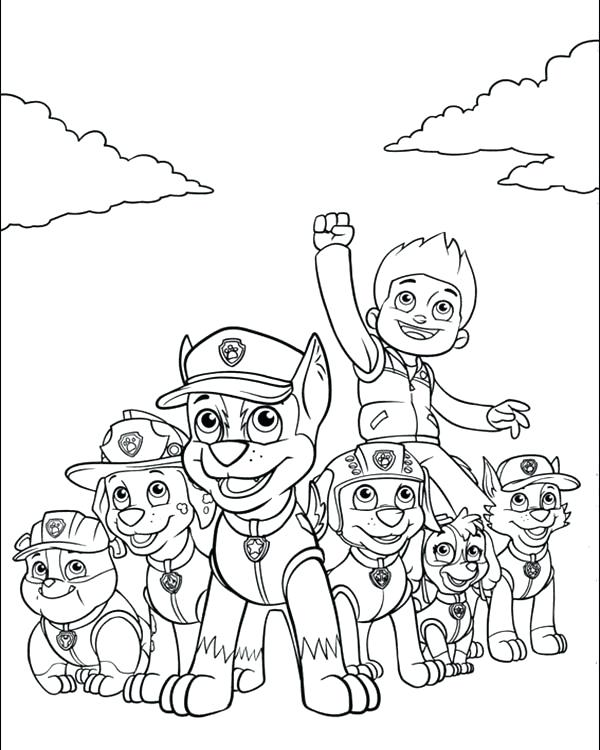 600x750 Paw Patrol Characters Coloring Page Pages Rocky