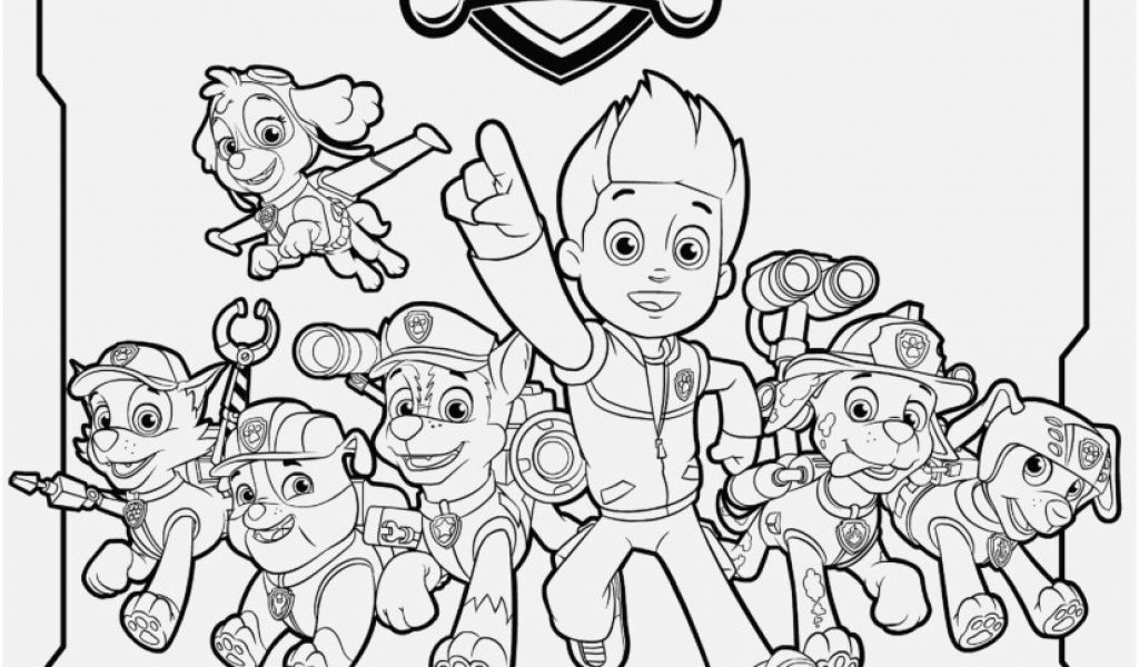 1024x600 Printable Paw Patrol Coloring Pages Concept All Paw Patrol