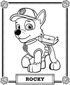 236x288 Paw Patrol Marshall Coloring Page