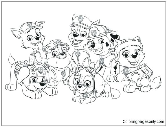 577x437 Coloring Pages Paw Patrol And Coloring Pages Paw Patrol Together