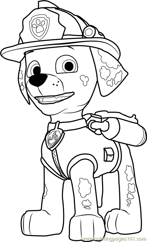 485x800 Paw Patrol Coloring Pages Marshall Marshall Coloring Page Free Paw