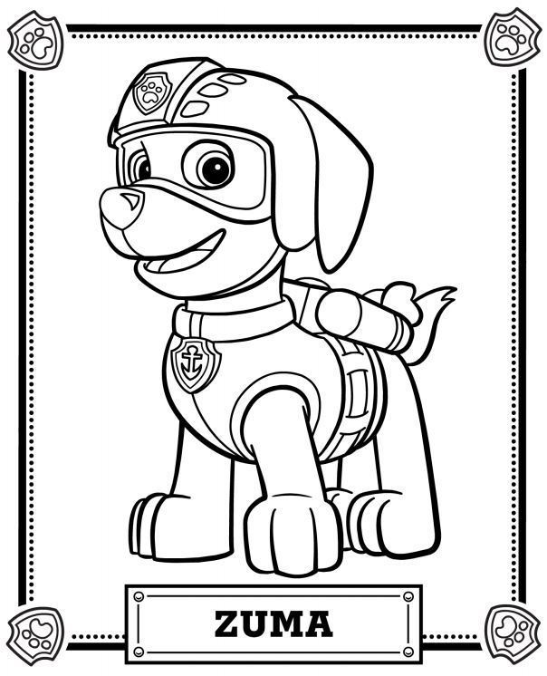 604x746 Paw Patrol Coloring Pages