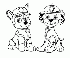 300x250 Chase Paw Patrol Coloring Page