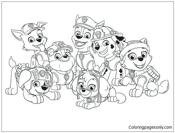 577x437 Coloring Pages Paw Patrol Colouring Pages Paw Patrol School