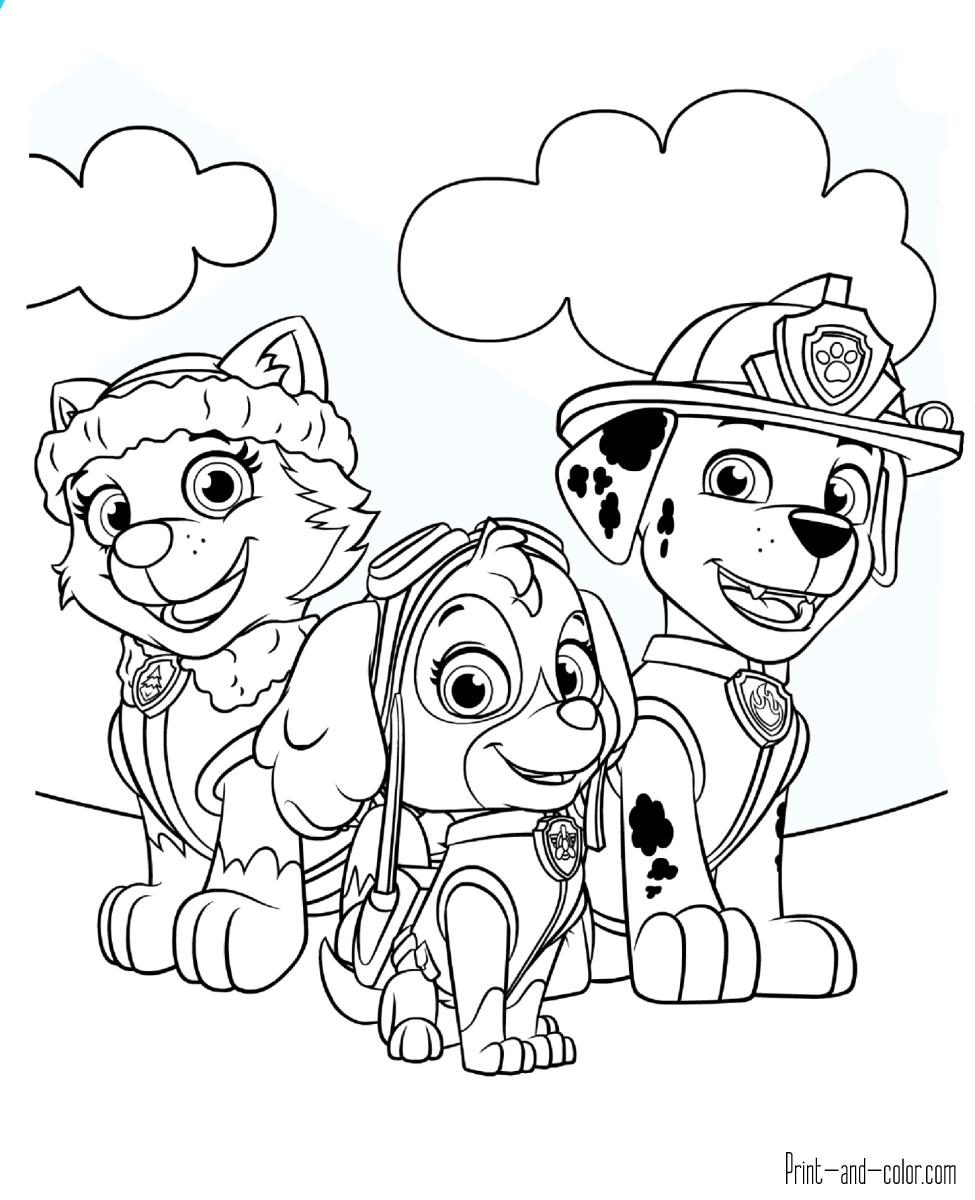 Paw Patrol Coloring Pages For Kids At Getdrawings Com Free For